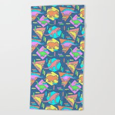 Nineties Dinosaur Pattern Beach Towel