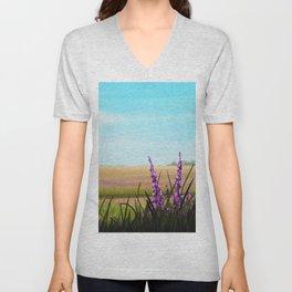 Field of Flowers Unisex V-Neck