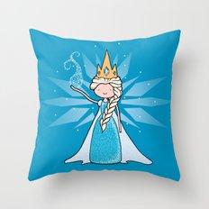 The Ice Queen Throw Pillow