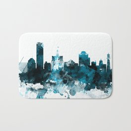 Milwaukee Monochrome Blue Skyline Bath Mat