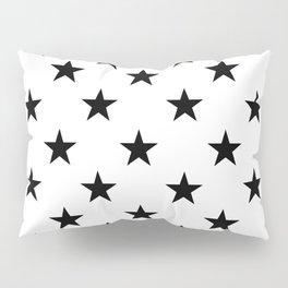 Stars (Black/White) Pillow Sham