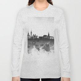 Design 106 Ottawa Skyline B/W Long Sleeve T-shirt
