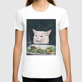 Woman Yelling at Cat Meme-4 T-shirt