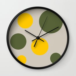 Moth Gray base with Sunny Summer and Inverness Circles  Wall Clock