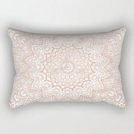 Mandala - rose gold and white marble 3 Rectangular Pillow