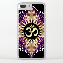Golden Berry Om Sunshine Clear iPhone Case