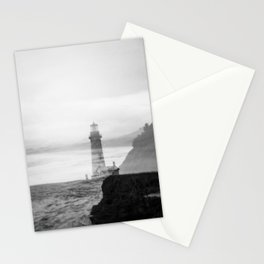 Ghostly Lighthouse - Yaquina Head Lighhouse in Newport, Oregon Stationery Cards