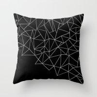 Ab Storm Black Throw Pillow