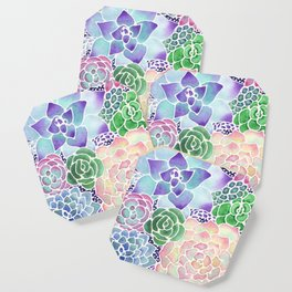 Masked Flora Collection Succulents Coaster