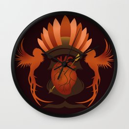 Quetzalli's Heart Wall Clock