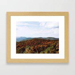 Skyline Drive Framed Art Print