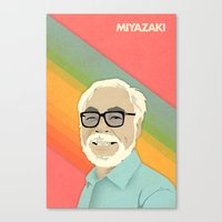 hayao miyazaki Canvas Prints featuring Miyazaki by Perry Misloski