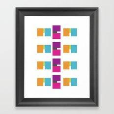 ME ME ME pattern Framed Art Print