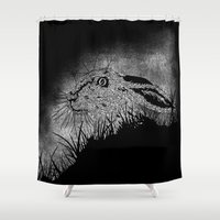 hare Shower Curtains featuring Hare by hardy mayes