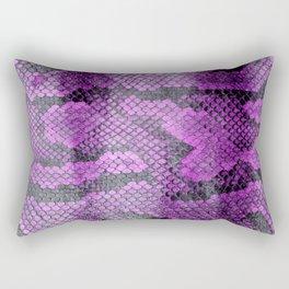 Purple Coloured Real Snake Skin Snakeskin Animal Print Rectangular Pillow