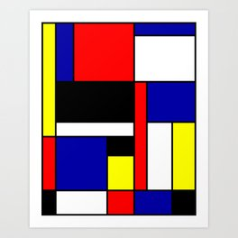 Mondrian #70 Art Print