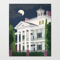 haunted mansion Canvas Prints featuring Haunted Mansion by BKgraphicART