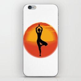 Vrksasana Yoga Pose iPhone Skin