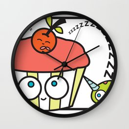 cupcake unicorn print Wall Clock