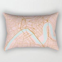 Pink and gold Brisbane map Rectangular Pillow