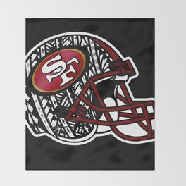Tribal Style 49ers Throw Blanket