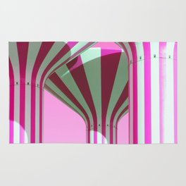 Pink Water Towers Rug