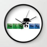 heisenberg Wall Clocks featuring Heisenberg by Solar Designs