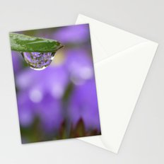Smiling Drop in Purple Stationery Cards