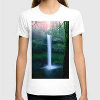 waterfall T-shirts featuring Waterfall by Ian Bevington