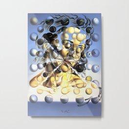 Salvador Dalí, Galatea of the Spheres 1952, Restored Artwork for Wall Art, Prints, Posters, Tshirts, Men, Women, Kids Metal Print