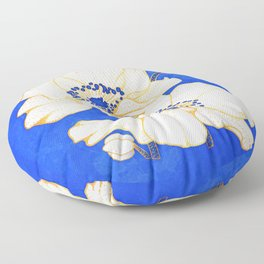 Ultramarine Blue :: Anemones Floor Pillow
