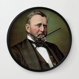 President Ulysses Grant Wall Clock