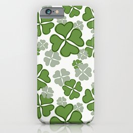 My Lucky Shamrocks I iPhone Case