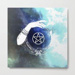 Mystic Cosmos Fortune Teller Metal Print
