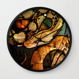 Reticulated Python Wall Clock