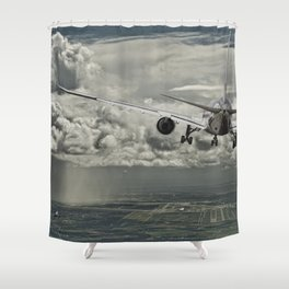 Stormy approach Shower Curtain