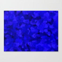 Rich Cobalt Blue Abstract Canvas Print