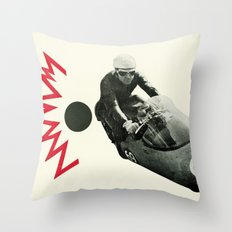 Motorcycle Madness Throw Pillow