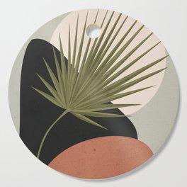 Tropical Leaf- Abstract Art 5 Cutting Board