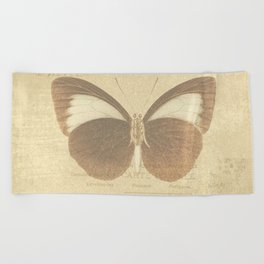 Vintage Paris Butterfly Beach Towel