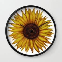 Sunflower by Lars Furtwaengler | Ink Pen | 2011 Wall Clock