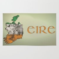 ruben ireland Area & Throw Rugs featuring Eire / Ireland by Dandy Octopus