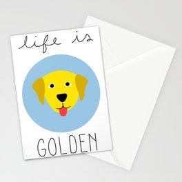 Life is Golden // Golden Retriever Art Stationery Cards