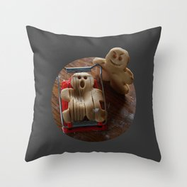 Attack of the Gingerbread man II Throw Pillow