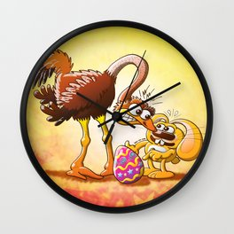 Ambitious Easter Bunny Wall Clock