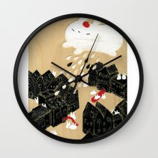 Rain of Terror Wall Clock