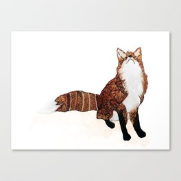 Fox Art, Watercolor Art, Animal Art, Woodland Animal Canvas Print