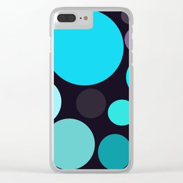 Blue and Purple Dots Clear iPhone Case
