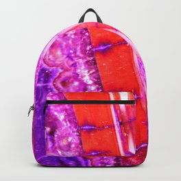 Candy Striped Red & Purple Quartz Backpack