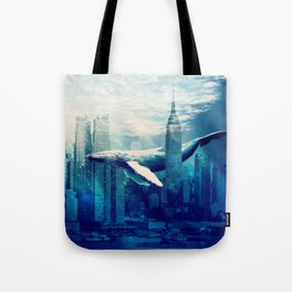 Blue Whale in NYC Tote Bag
